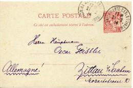 MONACO ENTIER POSTAL POUR L'ALLEMAGNE 1914 - Ganzsachen