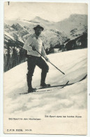 CPA Skieur Dans Les Hautes Alpes - Wintersport