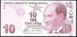 Turkey 10 Lira 2009 P223a UNC - Turkey