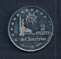 2 Euro Temporaire Precurseur De CHARTRES  1998, RRRR,, NI, Nr.196 - Euro Der Städte