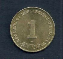 1 Euro Temporaire Precurseur De ANGERS  1998, RRRR,, BR, Nr.38 - Euro Der Städte