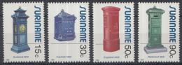 Republiek Suriname - Oude Brievenbussen - MNH - Zb 473-476 - Post