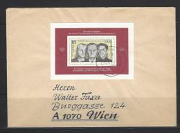 DDR - Beleg Mi-Nr. Block 70 Widerstandsorganisation Schulze-Boysen/Harnack - DDR