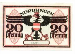 Allemagne Notgeld Nordlingen 20 Pfennig 1919 NEUF - Collections