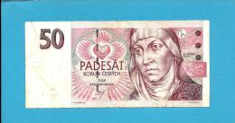 CZECH REPUBLIC - 50 Korun - 1997 - Pick 17 -  Prefix E45 - St. Agnes Of Bohemia - 2 Scans - Tchéquie