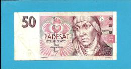 CZECH REPUBLIC - 50 Korun - 1997 - Pick 17 -  Prefix E45 - St. Agnes Of Bohemia - 2 Scans - República Checa