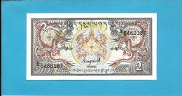 BHUTAN - 2 Ngultrum -  ND ( 1986 ) - Pick 13 - Serie B/1 - UNC. - Sign. 1 - Royal Monetary Authority Of Bhutan - 2 Scans - Bhoutan