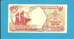 INDONESIA - 100 Rupiah - 1992/1999 - P 127.g - UNC. - Série PLT - Sailboat PINISI / Volcano ANAK KRAKATAU  - 2 Scans - Indonesia