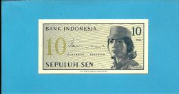 INDONESIA - 10 SEN - 1964 - P 92 - UNC. - Série BYL - Female Volunteer In Uniform - 2 Scans - Indonésie
