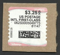 United States, 3.25$, Label, Used - United States