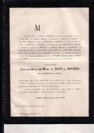 MEERHOUT Léontine De ROYE De WICHEN Née De MENTEN De HORNE 1846-1884 Doodsbrief - Esquela