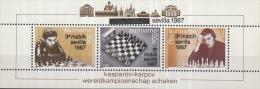 Republiek Suriname - 3e Partij Wereldkampioenschap Schaken - Kasparov - Karpov - Sevilla 1987 In Zwart - MNH - Zb 566 - Schaken