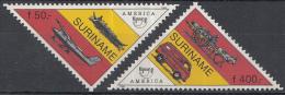 Republiek Suriname - U.P.A.E. America (zesde Serie) - Moderne En Antieke Postvoertuigen - MNH - Zb 823-824 - Post