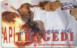 Malaysia (Uniphonekad) - Fire Tragedy 1, 71MSAB, 1994, 250.000ex, Used - Malaysia