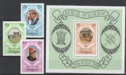 Antigua 1981 MiNr. 628/ 630 A  + 631 (Block 65) **/ MNH  Hochzeit Von Prinz Charles Mit Lady Diana; Glamis Castle - Antigua Und Barbuda (1981-...)