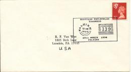 Great Britain Cover Sent To USA Scottish Philatelic Congress Falkirk 19-3-1994 - 1952-.... (Elizabeth II)