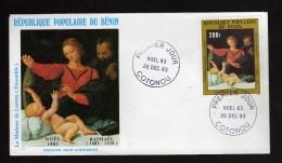 BENIN - FDC - 1983 - P. Aériens, Noel , Tableau Du Peintre  Yvert  321 - Bénin – Dahomey (1960-...)