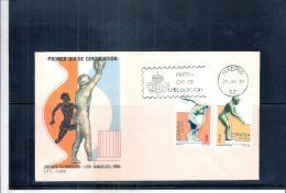JO Los Angeles 1984 - FDC Espagne - Summer 1984: Los Angeles