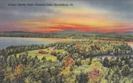 Vermont Greensboro Sunset Blacks Point Caspian Lake - United States