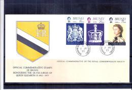 FDC Brunei 1977 - Complete Set - Brunei (1984-...)