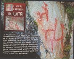 O) 2011 PERU, CUSCO, CAVE PAINTINGS-PREHISTORIC DRAWING ,CHAHUAYTIRI, SOUVENIR MNH - Peru