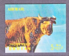 BHUTAN   116 L   *  3 D  STAMP  FAUNA  TAKIN - Holograms