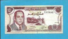 MOROCCO - 10 DIRHAMS - 1970 - Pick 57.a - Sign. 8 - King Hassan II - BANQUE DU MAROC - Maroc