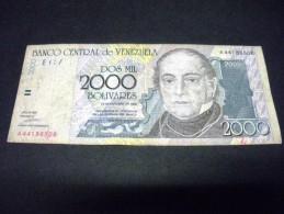 VENEZUELA 2000 Bolivares 29/10/1998,pick N° KM 80,VENEZUELA, - Venezuela