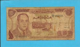 MOROCCO - 10 DIRHAMS - 1985 - Pick 57.b - Sign. 9 - King Hassan II - BANQUE DU MAROC - Maroc
