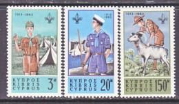 CYPRUS 224-6   *  BOY  SCOUTS - Cyprus (Republic)