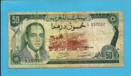MOROCCO - 50 DIRHAMS - 1970 - Pick 58.a - Sign. 8 - King Hassan II - BANQUE DU MAROC - Marokko