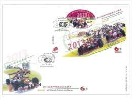 2013 MACAO/MACAU 60 ANNI OF Grand Prix MS FDC. - 1999-... Chinese Admnistrative Region