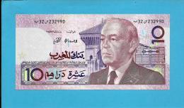 MOROCCO - 10 DIRHAMS - 1987 ( 1991 ) - Pick 63.a - Sign. 10 - King Hassan II - BANK AL MAGHRIB - MAROC - Maroc
