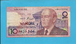 MOROCCO - 10 DIRHAMS - 1987 ( 1991 ) - Pick 63.b - Sign. 11 - King Hassan II - BANK AL MAGHRIB - MAROC - Morocco