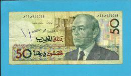 MOROCCO - 50 DIRHAMS - 1987 ( 1991 ) - Pick 64.c - Sign. 12 - King Hassan II - BANK AL MAGHRIB - MAROC - Morocco