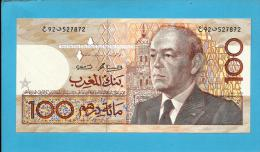 MOROCCO - 100 DIRHAMS - 1987 ( 1991 ) - Pick 65.b - Sign. 11 - King Hassan II - BANK AL MAGHRIB - MAROC - Morocco