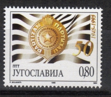 "Yugoslavia,50 Years Of Sport Society ""Partizan"" 1995.,MNH - 1992-2003 Federal Republic Of Yugoslavia"