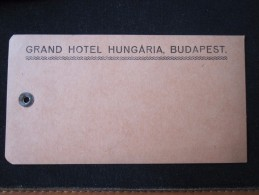 HOTEL MOTEL PENSION LODGE INN GRAND BUDAPEST HUNGARIA HUNGARY HONGRIE DECAL STICKER LUGGAGE LABEL ETIQUETTE AUFKLEBER - Hotel Labels