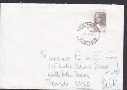 Denmark Deluxe HØJE-TAASTRUP 1992 Cover Brief NORTH PALM BEACH Florida USA Block Miniature Sheet Stamp NORDIA - Dänemark