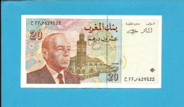 MOROCCO - 20 DIRHAMS - 1996 - Pick 67.c - Sign. 14 - King Hassan II - BANK AL MAGHRIB - MAROC - Marruecos