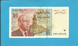 MOROCCO - 20 DIRHAMS - 1996 - Pick 67.e - Sign. 16 - King Hassan II - BANK AL MAGHRIB - MAROC - Marruecos
