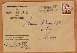 Enveloppe Brief Cover Administration Communale De Bouge Namur + Flamme - Belgien