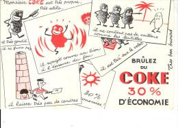 BUVARD  BRULEZ DU COKE  30% D'ECONOMIE - Gas, Garage, Oil