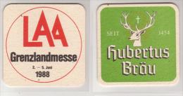 Hubertus Bräu Österreich , 1988 , LAA Grenzlandmesse - Sous-bocks