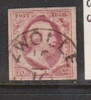 PAYS BAS N° 2 10C ROSE CARMINE GUILLAUME III 18.10OBL - Periodo 1852 - 1890 (Guglielmo III)