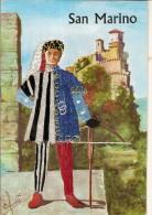 SAN MARINO-ARBALETE--TIR A L´ARC - Carte Tissée Main - Tir à L'Arc