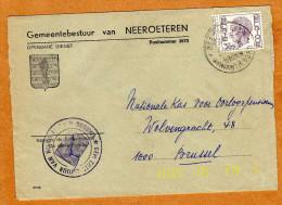 Enveloppe Brief Cover Gemeentebestuur Van Neeroeteren - Belgique