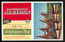 Calendrier  Kalender  1957  -  Cithymène  Algipan  Antigrippine Midy - Pharmacie  Apotheker  Apothèque - Petit Format : 1941-60