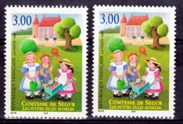 France 3253 Comtesse De Ségur Variété Visages Rouges Et Rose Neuf ** TB MNH Sin Charnela - Varietà: 1990-99 Nuovi