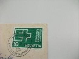 STORIA POSTALE FRANCOBOLLO COMMEMORATIVO SVIZZERA ESPOSIZIONE NAZIONALE LAUSANNE 1964 IL PORTO E LA TORRE - Esposizioni